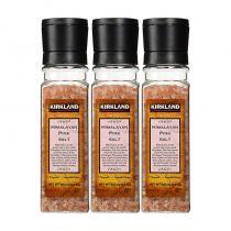 Kirkland Signature Himalayan Pink Salt柯克兰喜马拉雅山玫瑰粉红盐带研磨器3瓶