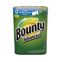 美国进口宝洁帮庭Bounty厨房纸巾117片12卷装